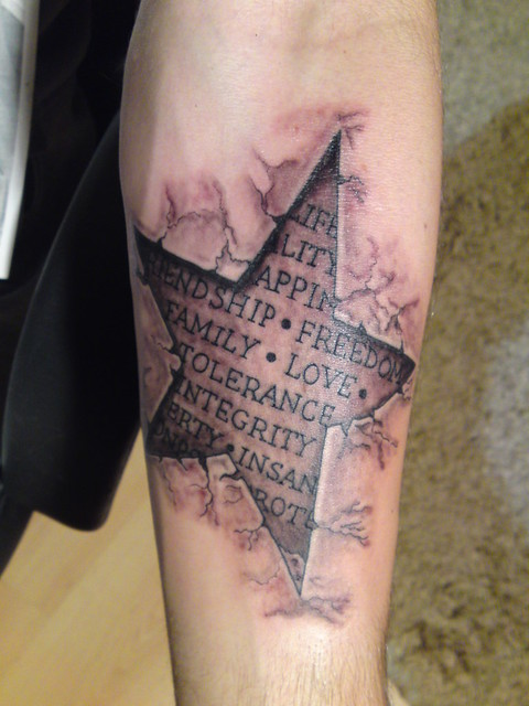 3D Star Tattoo Stea Tattoo Myke Tattoo Flickr Ideas And Designs