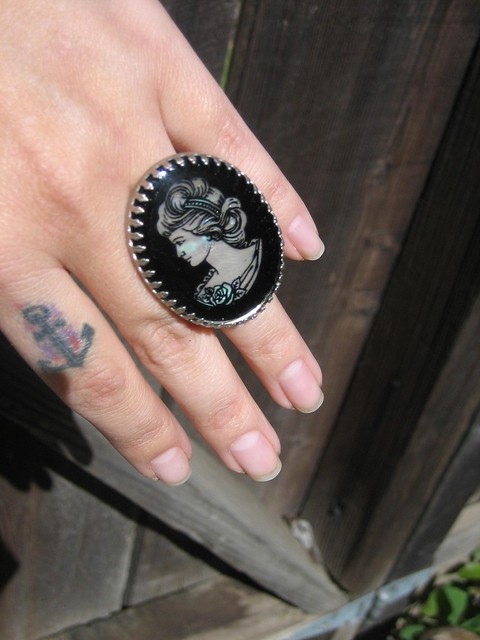 New Cameo Tattoo Design Victorian Lady Flickr Photo Ideas And Designs