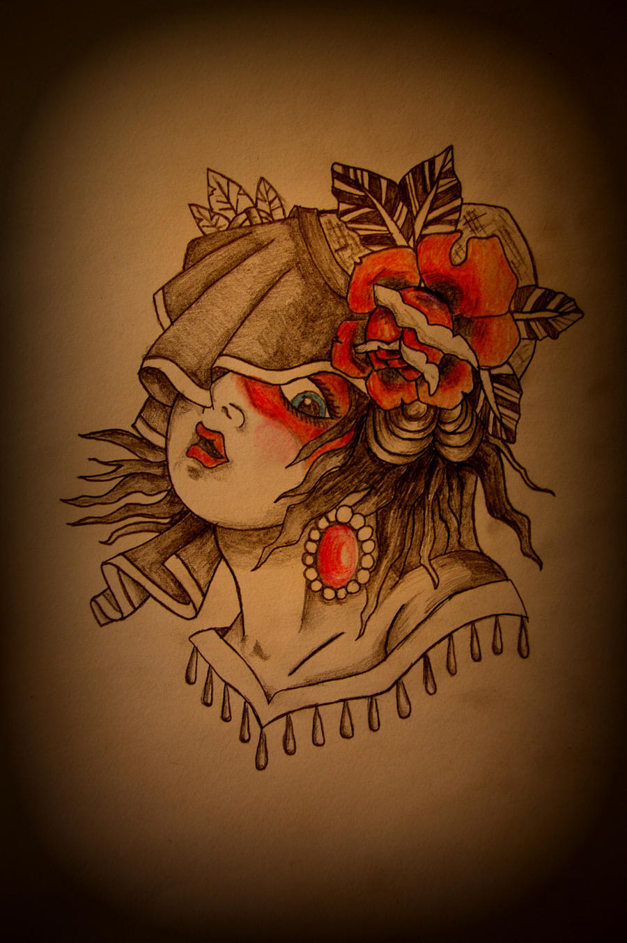 Traditional Gypsy Tattoo Flash By Battered N Bruised On Ideas And Designs