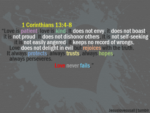 Jesus Loves Us All 1 Corinthians 13 4 8 Ideas And Designs