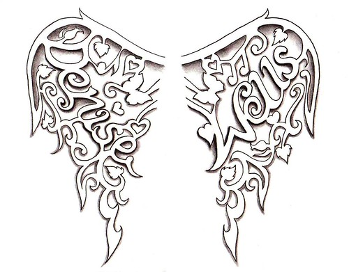 Angel Wings Tattoo Design By Denise A Wells These Persona… Flickr Ideas And Designs