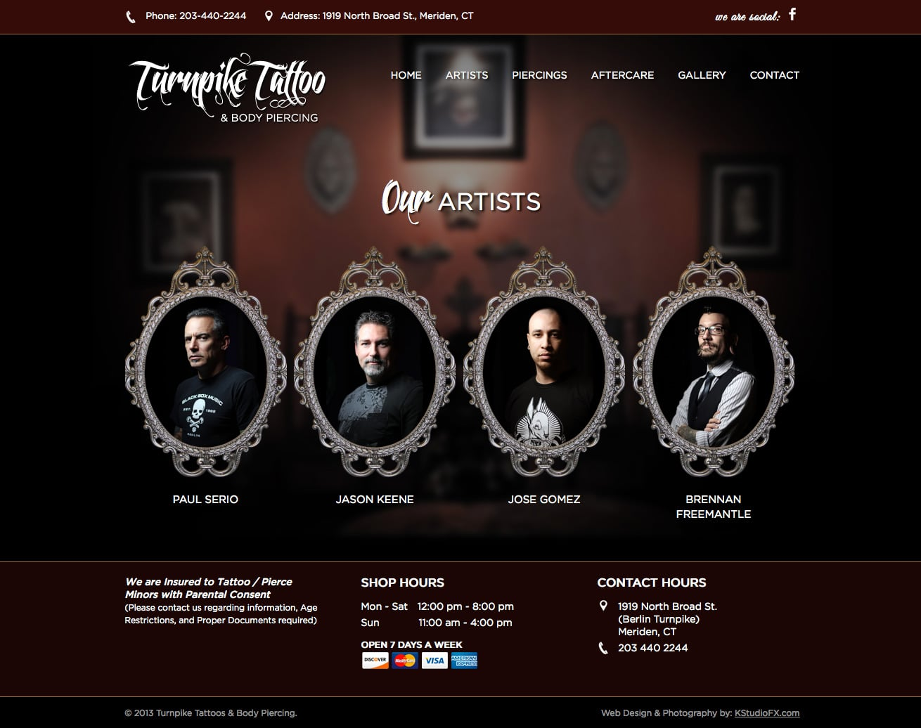 Turnpike Tattoos Kstudiofx Web Wordpress Graphic Design Ideas And Designs