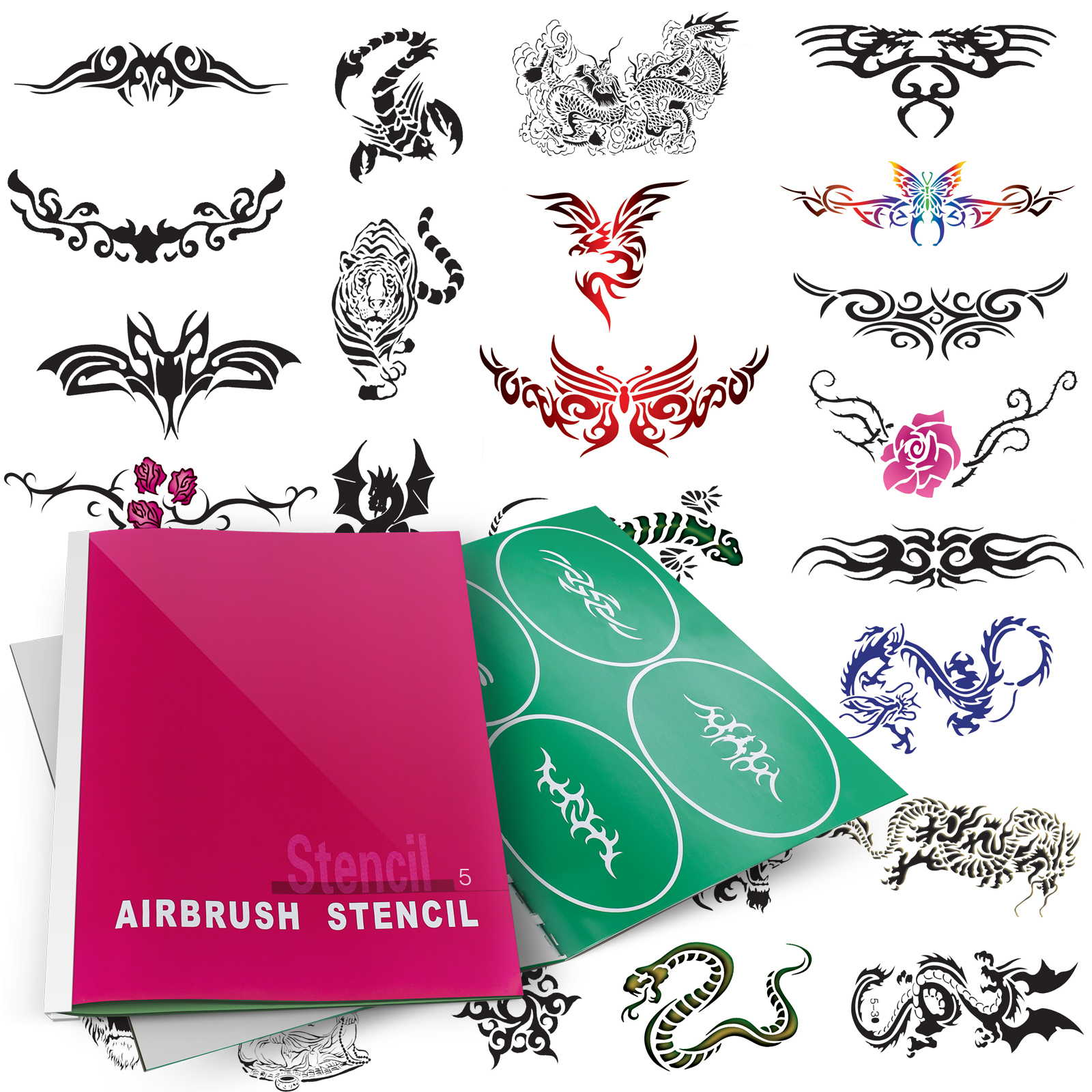 Temporary Tattoo Airbrush Design Stencil Patterns Ebay Ideas And Designs
