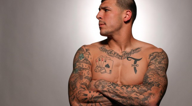 Judge Rules That Aaron Hernandez S Tats Can Be Used Against Him To Determine If He Killed People Ideas And Designs