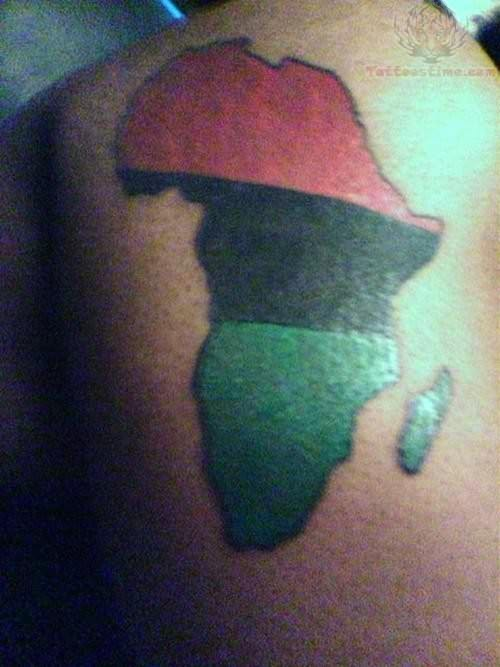 African Map Tattoo Ideas And Designs