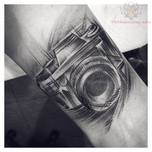 Black And White Camera Tattoo On Wrist Ideas And Designs