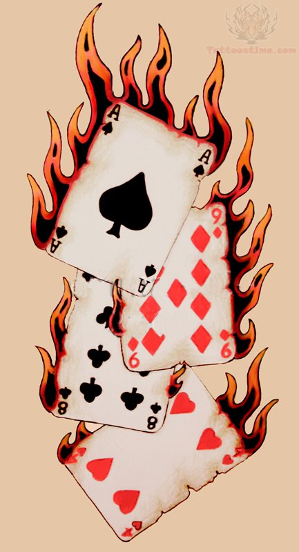 Poker Tattoo Images Designs Ideas And Designs