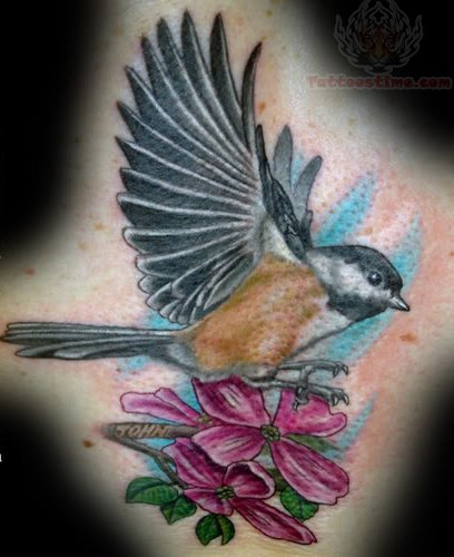 Bird And Flowers Tattoo Ideas And Designs