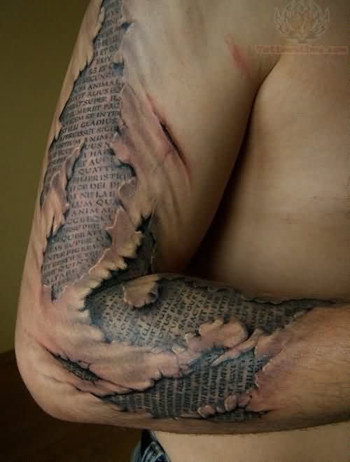 3D Tattoo On Men Right Sleeve Ideas And Designs
