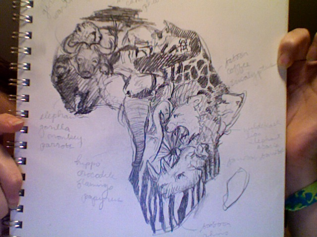 Wild Animal In African Map Tattoo Design Ideas And Designs