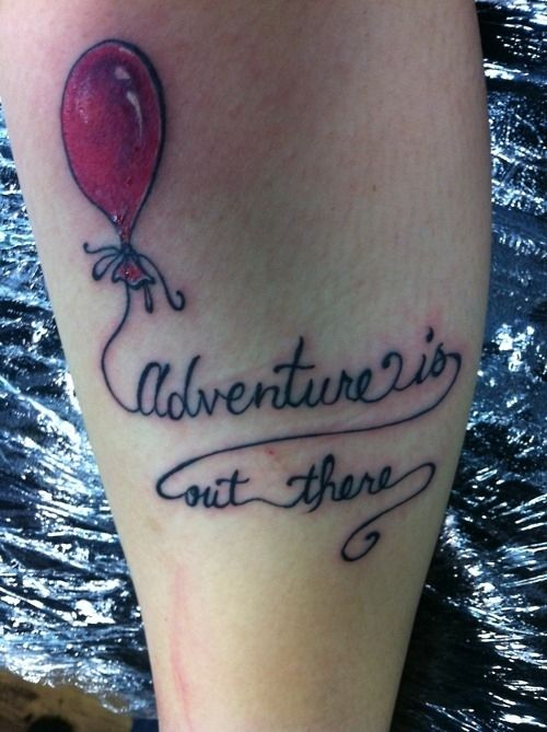 Adventure Is Out There – Balloon Tattoo Ideas And Designs