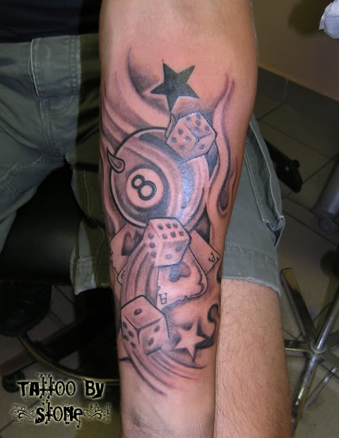 Dice Tattoo Images Designs Ideas And Designs