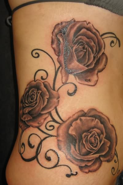 Big Rose Flowers Tattoo Ideas And Designs