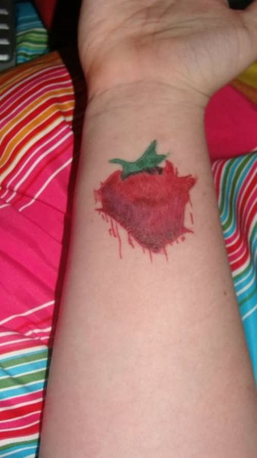 Forearm Strawberry Tattoo On Arm Sleeve Ideas And Designs