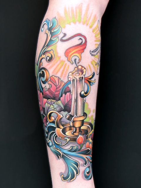 Candle Tattoo Images Designs Ideas And Designs