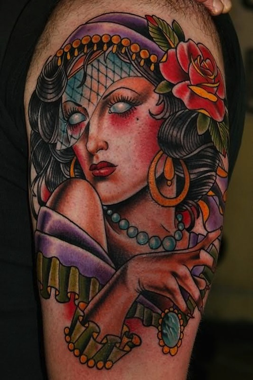 Gypsy Tattoo Images Designs Ideas And Designs