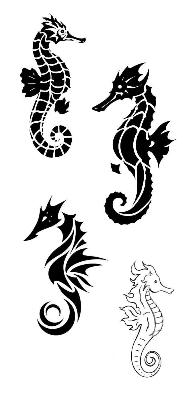 Seahorse Tattoo Images Designs Ideas And Designs