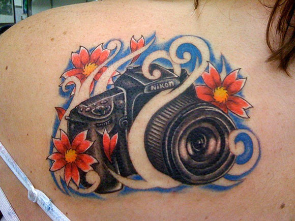 Camera Tattoos Theme Ideas And Designs