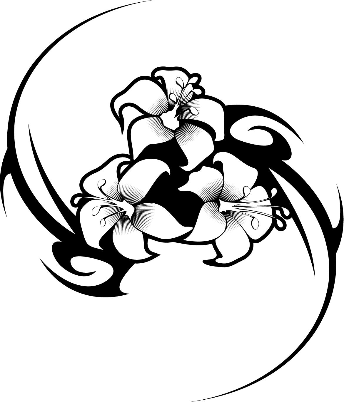 Flower Tribal Designs Clipart Best Ideas And Designs