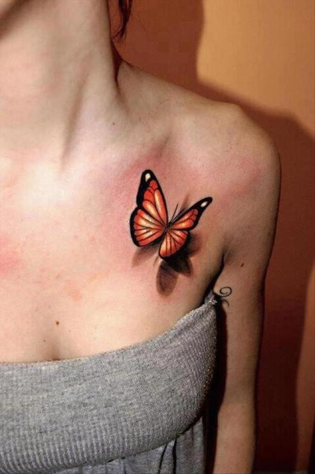 Best Tattoos 3D Butterfly Tattoo Dump A Day Ideas And Designs