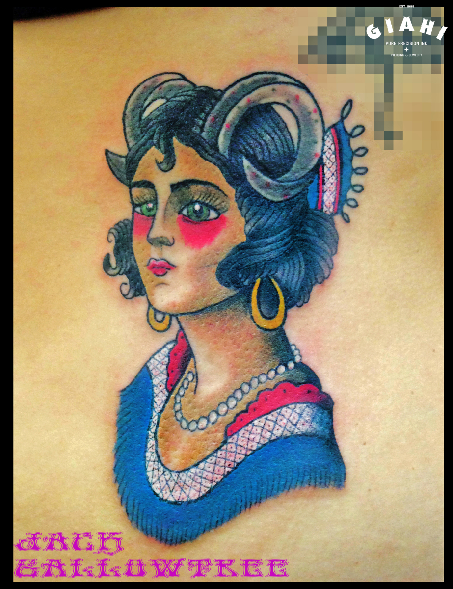 Succubus Old School Girl Tattoo By Jack Gallowtree Best Ideas And Designs