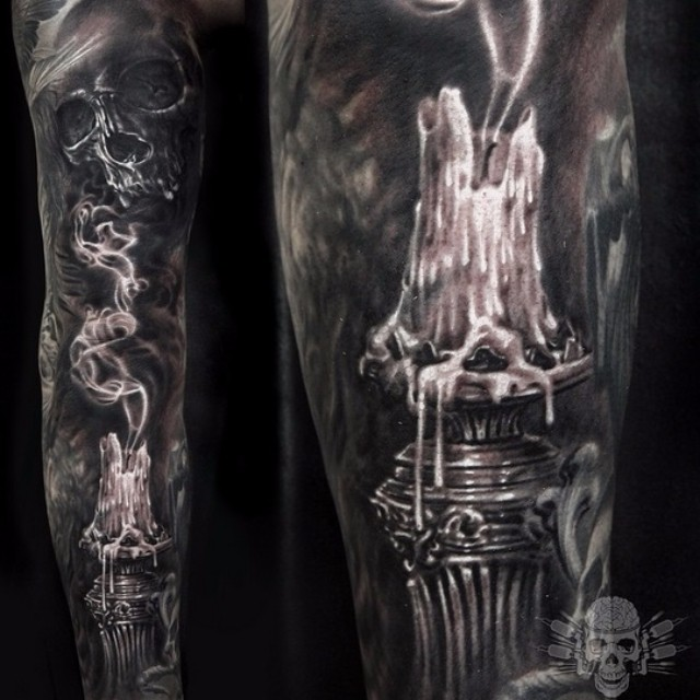 Extinguished Candle Tattoo Sleeve Best Tattoo Ideas Gallery Ideas And Designs