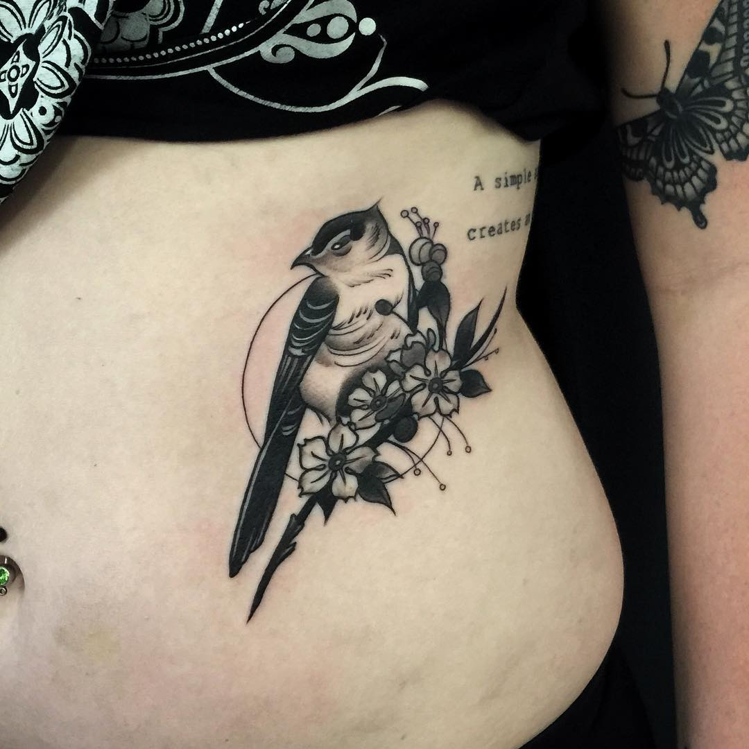 Bird And Flower Tattoo Best Tattoo Ideas Gallery Ideas And Designs
