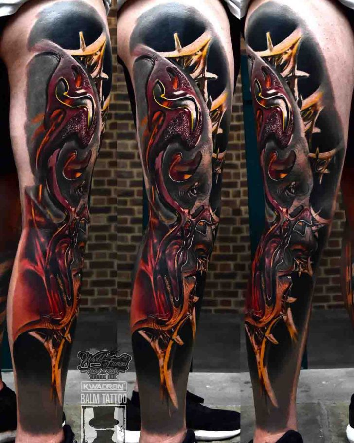 3D Leg Tattoo Best Tattoo Ideas Gallery Ideas And Designs