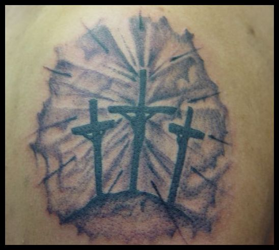 3 Crosses Tattoo Picture Ideas And Designs