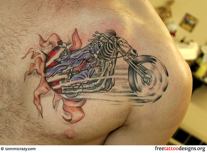 Biker And Harley Davidson Tattoos Ideas And Designs