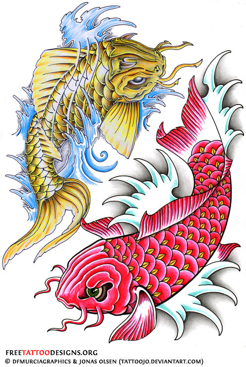 40 Koi Fish Tattoos Japanese And Chinese Designs Ideas And Designs