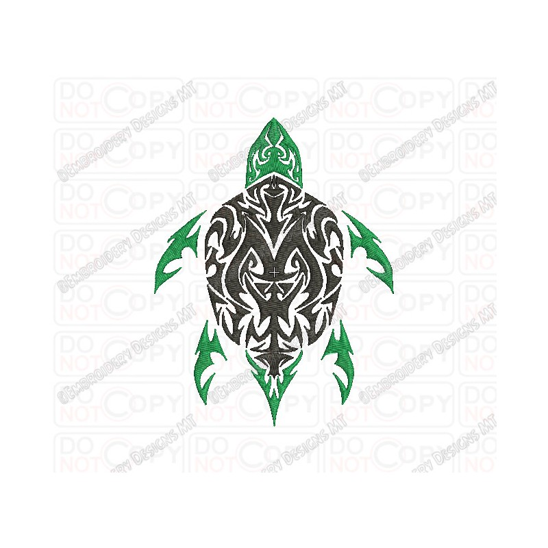 Turtle Tribal Tattoo Embroidery Design In 3X3 4X4 And 5X7 Ideas And Designs