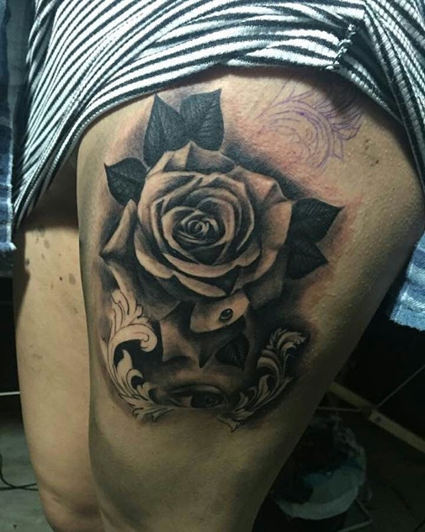42 Totally Awesome Black Rose Tattoo That Will Inspire You Ideas And Designs