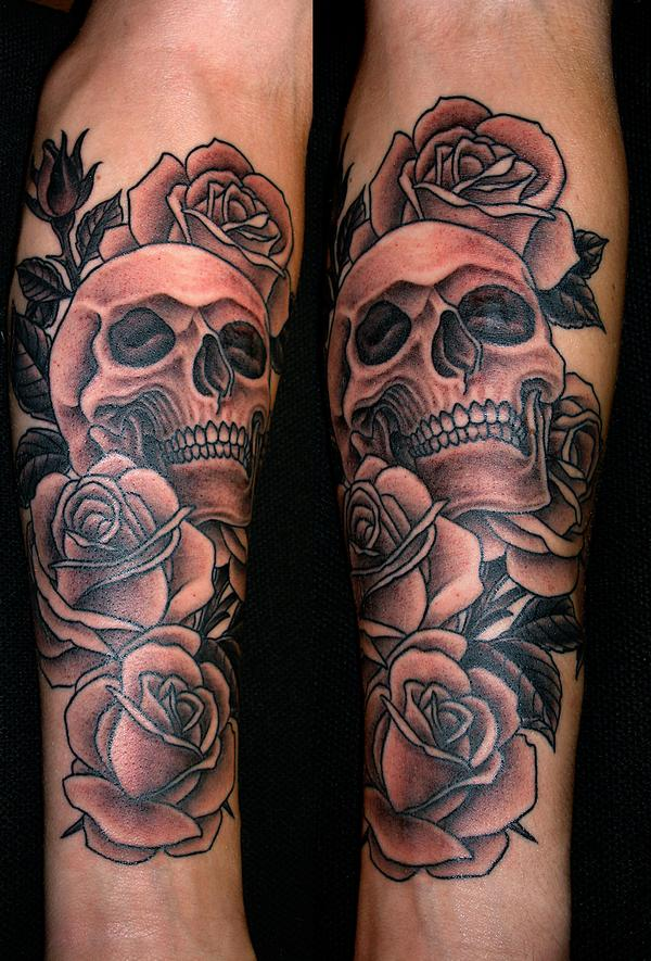10 Skull And Roses Tattoos Ideas And Designs