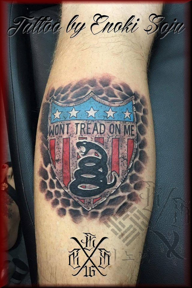 Enokisoju Dont Tread On Me Tattoo Dont Tread On Me Ideas And Designs