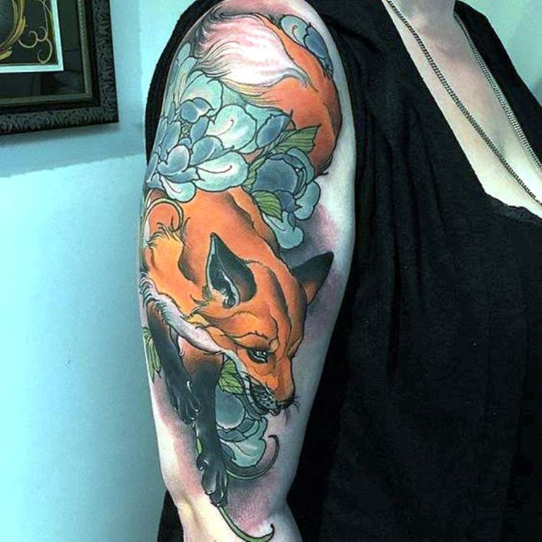 30 Fox Tattoos Tattoofanblog Ideas And Designs
