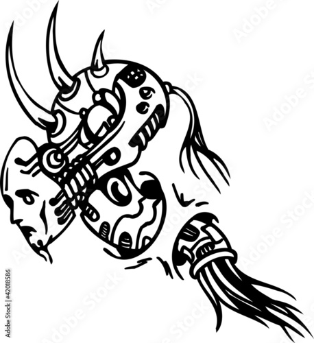 Tattoo Design In Biomechanical Style Vinyl Ready Stock Ideas And Designs
