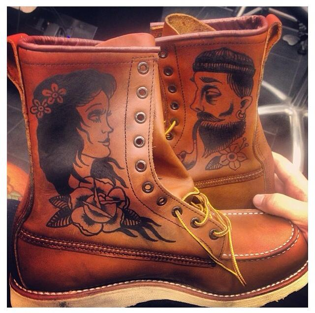 Ink And Cowhide Customising A Red Wing 877 Rope Dye Ideas And Designs