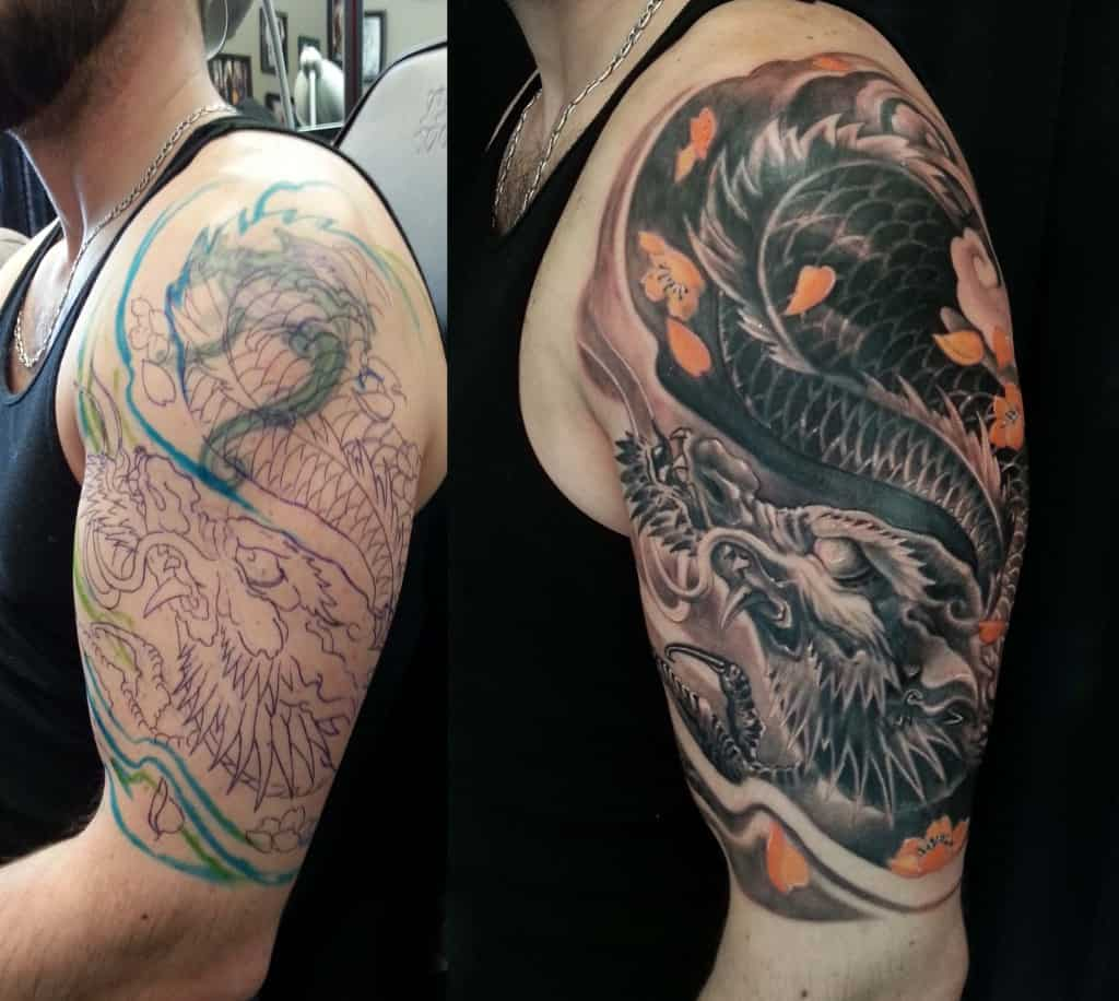 Dragon Cover Up Tattoo Chronic Ink Ideas And Designs