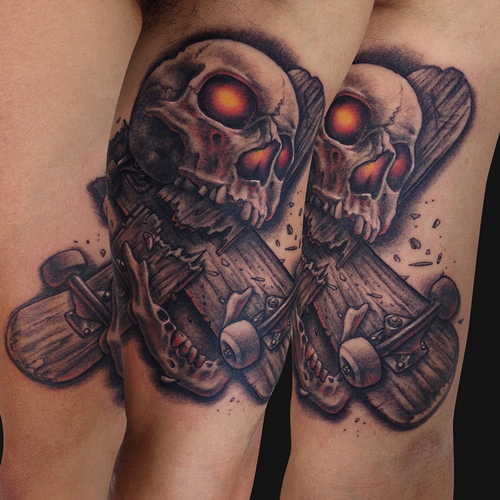 Skateboard Tattoos Designs Ideas And Meaning Tattoos Ideas And Designs