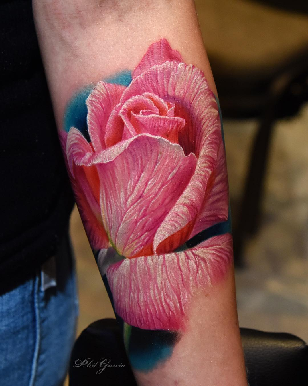 Color Rose Tattoos By Phil Garcia Ideas And Designs