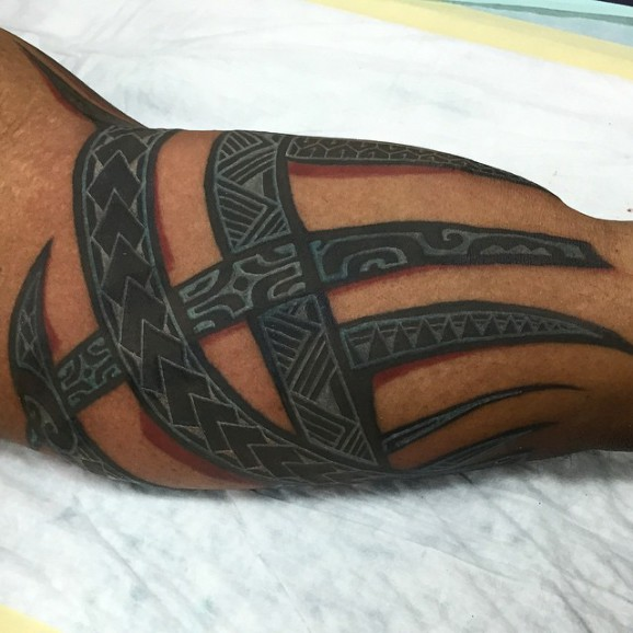 The Newest Trend Solid Black Tattoos With White Ideas And Designs