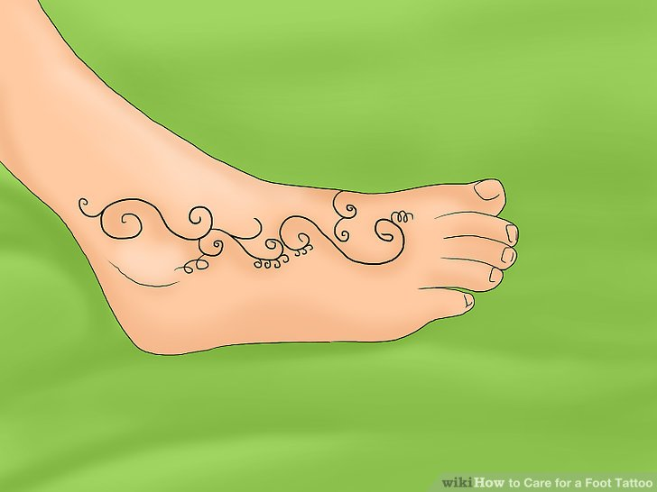 3 Ways To Care For A Foot Tattoo Wikihow Ideas And Designs