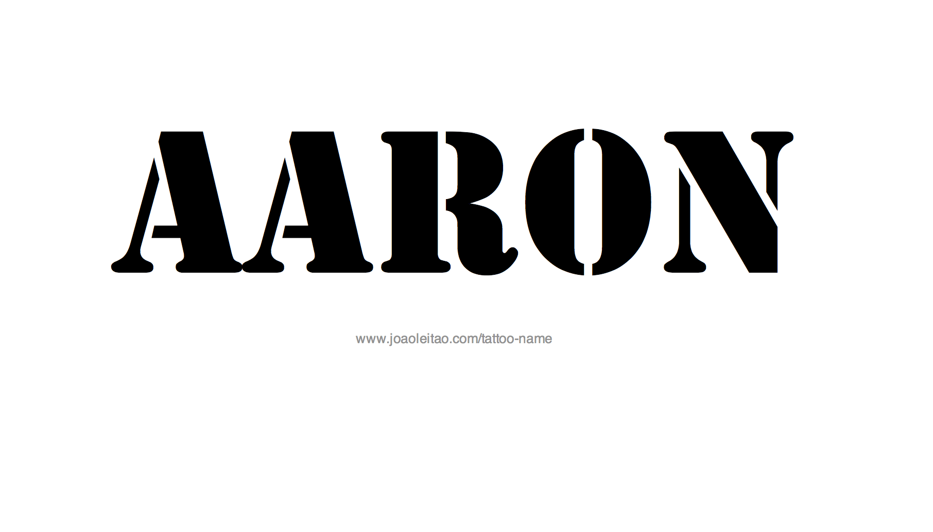 Aaron Name Tattoo Designs Ideas And Designs