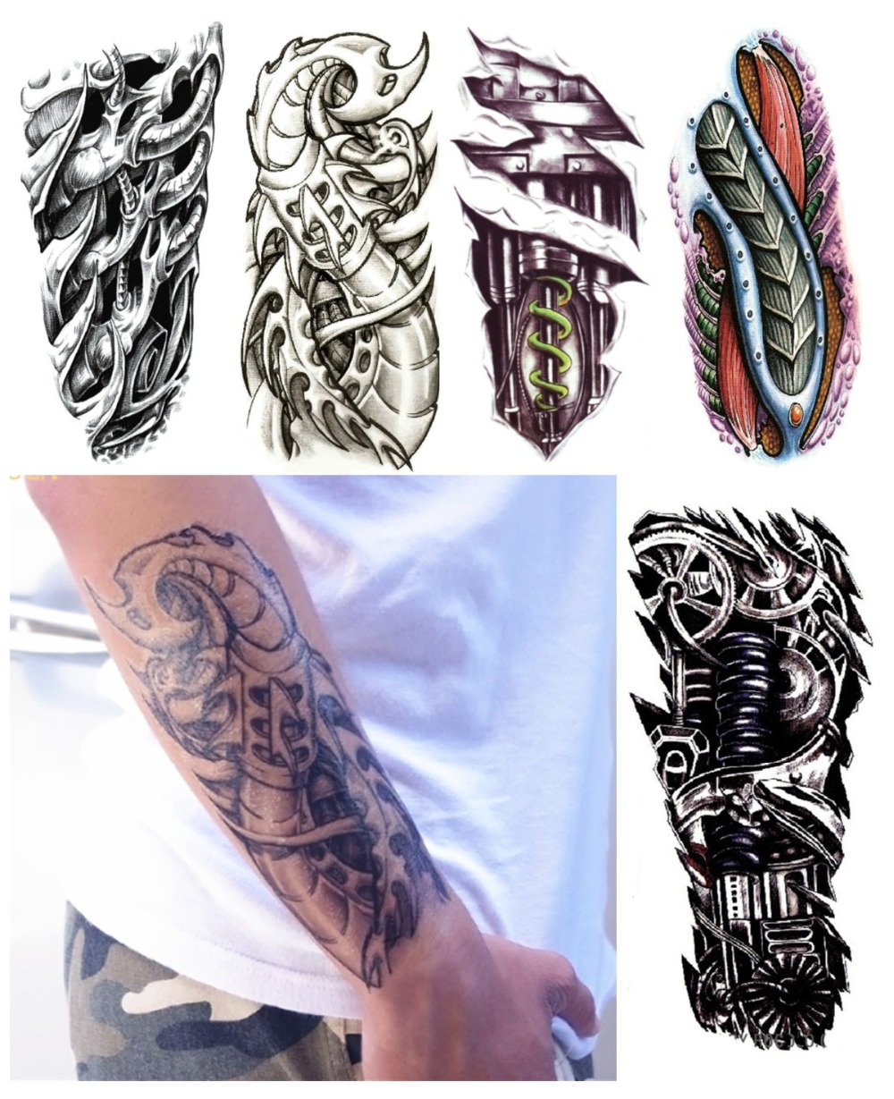 Aliexpress Com Buy 8Pcs Lot Robot Arm Fake Tattoos Ideas And Designs
