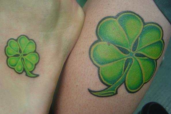 Four Leaf Clover Couple Tattoo Design Meaningful Couple Ideas And Designs