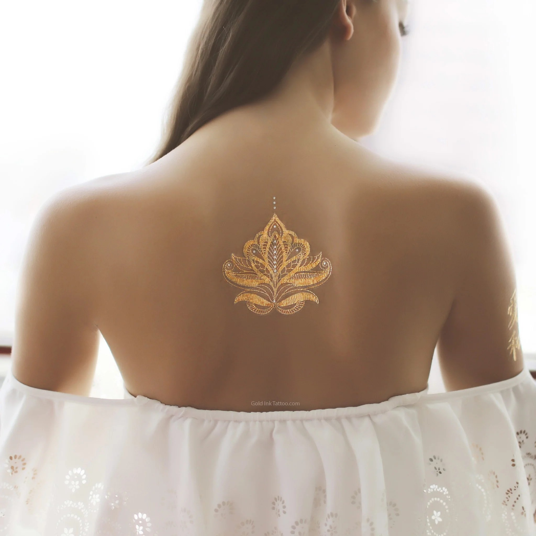 Gold And Silver Henna Design Flash Metallic Tattoo Gold Ideas And Designs