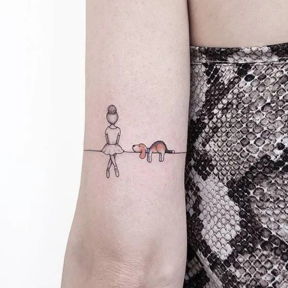 30 Cute Small Simple Dog Tattoo Ideas For Women Animal Ideas And Designs