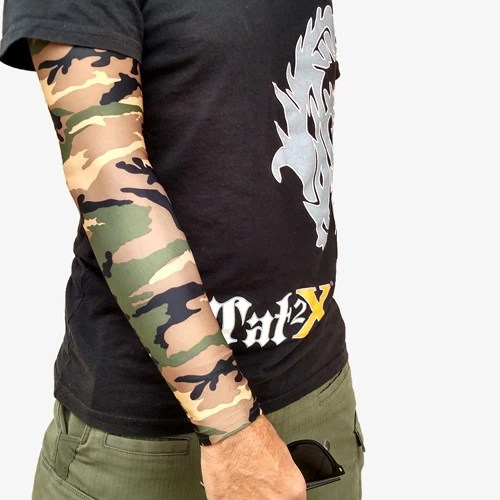Green Camouflage Arm Sleeves For Covering Up Tattoos Ink Ideas And Designs