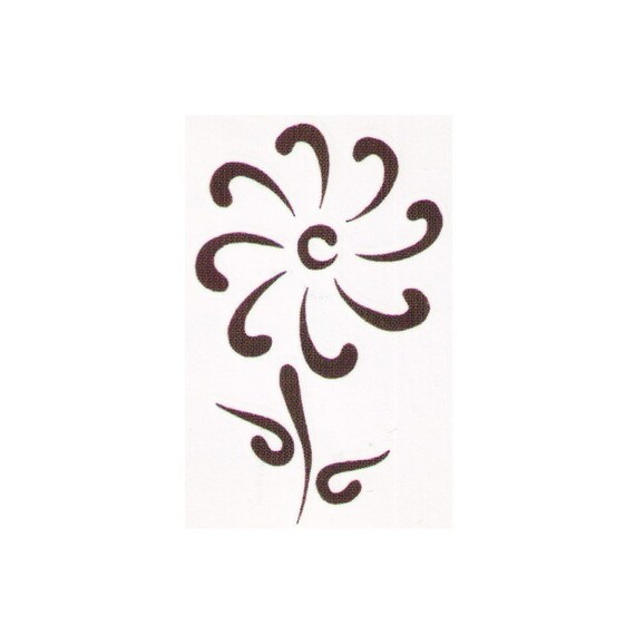 Flower Temporary Tattoo Design 2X2 Inch Ideas And Designs